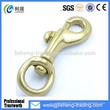 Hot Sale Cheap solid brass swivel eye snap hook