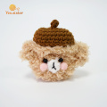 Crochet Teddy Dog Earphone Case Airpods Fundas protectoras