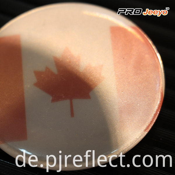 Reflective High Visibility Safety Canada Flag Badge