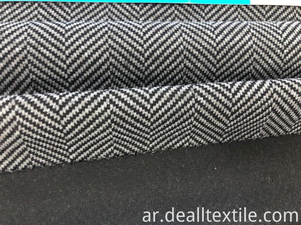 Herringbone knitted jacquard fabric