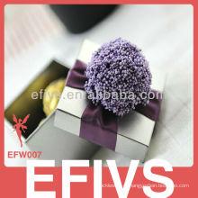 Purple romântico Delicate Jewelry Box Fornecedor de Embalagem Atacado