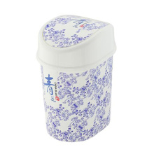 Azul y blanco porcelana china estilo voltear en el cubo de basura (ff-5233)