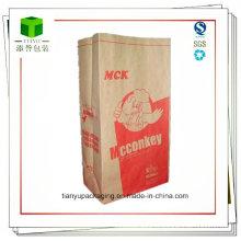 Sac en papier carré pour charbon de bois 10lb