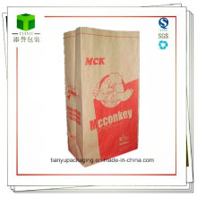 Square Bottom Paper Bag for Charcoal 10lb