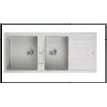 Louças sanitárias 1200 * 500mm dupla tigela pia de granito (hb8200b)