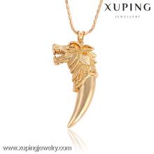32503 Xuping bijoux or personnalisé animal en forme de tête pendentif