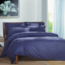 Satin Strip Hotel Algodão Bedding Set com Set Consolador (WS-2016052)