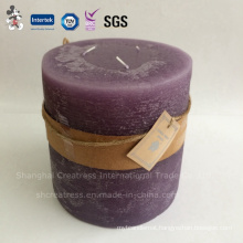 Pillar Shaped Three Wicks Scented Candle