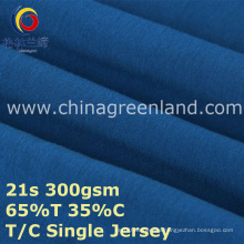 Cotton Polyester T65/C35 Knitted Jersey Fabric for Garment Shirt (GLLML386)