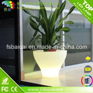 Potenciômetros iluminados diodo emissor de luz do plantador / venda por atacado do potenciômetro de flor do diodo emissor de luz