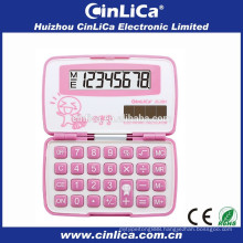 JS-28H pink kids love calculator with cover, cheap calculators for sale