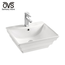 made in china top mounted lavabo wash basin