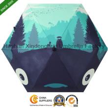 21-Zoll-Cartoon drei Falten Schirme mit Digitaldruck (FU-3621B)