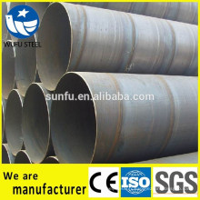 Tuyau en acier Spiral SSAW S235JR pour le transport de fluides gaz et pétrole