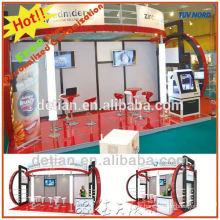 décrochage modulaire accrocheur d'exposition avec la salle de stockage, système de plancher pour l'exposition commerciale de promotion de la publicité