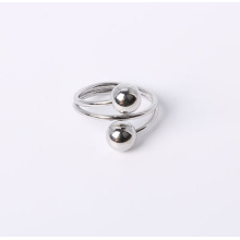 Simple Style Jewelry Ring with Rhodium Plated