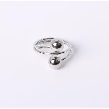 Einfacher Stil Schmuck Ring mit Rhodium überzogen