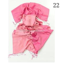 HTC-168 fashion double sided %100 silk shawl