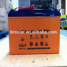 Bateria alta de Efficency 12V 75AH para o painel solar