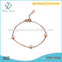 Fashion crystal bracelet,chain bracelet,rose gold magnetic bracelet