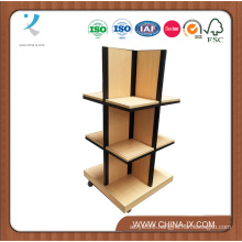 Wooden and Steel Display Tower with Casters