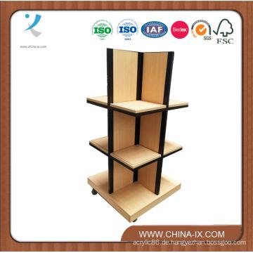Holz und Stahl Display Tower mit Rollen
