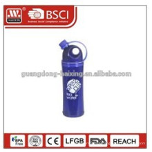 350ml kids plastic drink water bottle with straw, for juice and milk drink