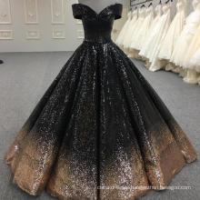 Shining ball gown muslim wedding dress 2018