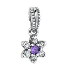 S925 sterling silver flower series snowflake style beaded DIY accessories