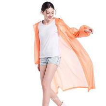 Customized eva adult rainwear with mesh bag