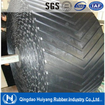 China High Quality Black Industrial Chevron Rubber Conveyor Belt