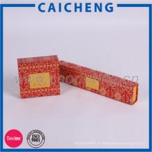 Boîte faite main et simple de carton de boîte de papier de bijoux avec l'aimant