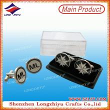 Kundenspezifische Logo Runde Manschettenknöpfe für Männer