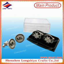 Customized Logo Round Cufflinks for Men