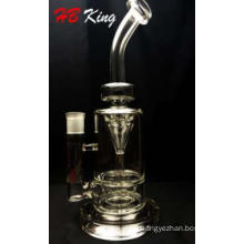Top Selling 12 Inch Height New Funnel Percolator Glass Smoking Water Pipe