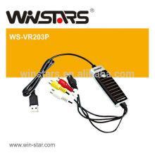 USB 2.0 Video Grabber com áudio. Cartão de captura de áudio usb