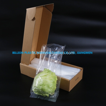 Sac de fruits en plastique transparent