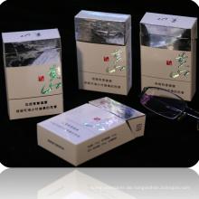 Keine Tinte gedruckt Hologramm Zigarettenschachtel Kartonverpackungen