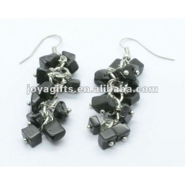 Grape Shaped Black Onyx Gemstone Earring