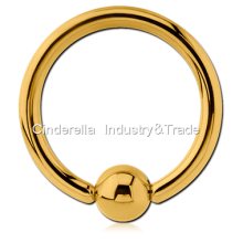 Gold PVD Coated Steel Ball Closure Ring