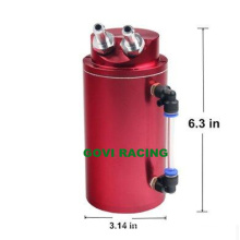 Round Racing Aluminium Öl Fang Tank Dose mit Mini Luftfilter 0.5L