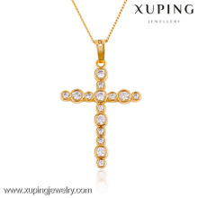 32434- Xuping Jewelry Trendy Charm Christma Gifts 18K gold plated Cross pendant