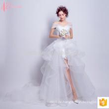 Plicated Spitze off-shoulde reizvolles Ballkleidprinzessin-Hochzeitskleid