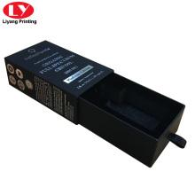 caixa de presente de papel preto gaveta