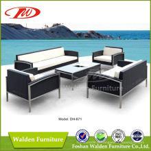 Mobília de vime de jardim ao ar livre (DH-871)