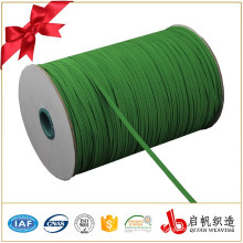 8mm wide green braided elastic roll webbing china manufacturer