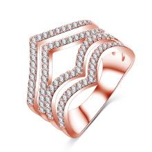 Personalized Silver Plated CZ Diamond Jewelry Ring (CRI1022)
