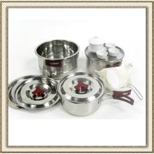Acero inoxidable Wild Camping Set de utensilios de cocina (CL2C-DT05)