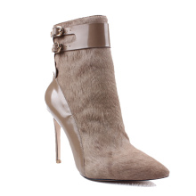 Ladies Winter High Heel Women Boots Genuine Leather Ankle Boots Women'S Shoes Safety Leather  2020