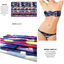 Polyester Spandex Jersey Printed Swimwear and Dress Fabric